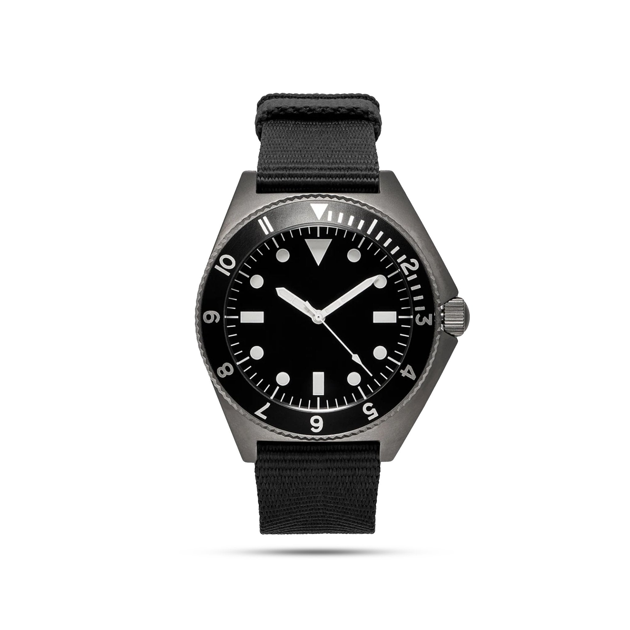 mens black watch with black face
