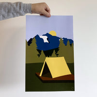 Camping poster - Partial proceeds to BC Parks Foundation
