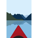 Kayaking poster - Partial proceeds to BC Parks Foundation