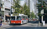 SET OF 2 1990s Vancouver trolley bus roll posters - East Van and West Side