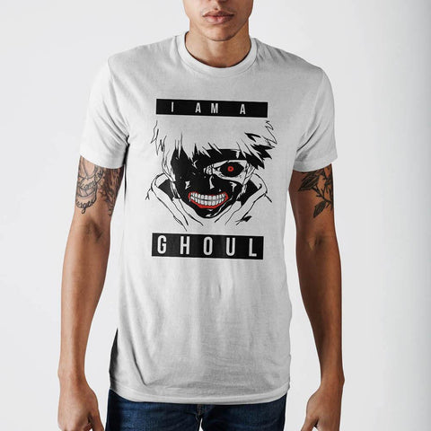 Tokyo Ghoul I Am Ghoul White T-Shirt - anime-ultra