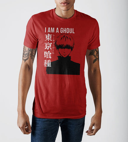I Am A Ghoul Adult Male Crew Neck T-Shirt - anime-ultra