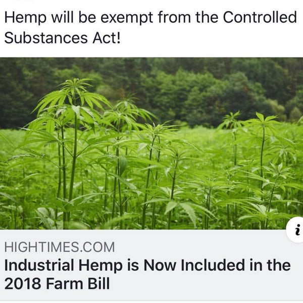 INDUSTRIAL HEMP LEGALITY UPDATE - GREENSTAR DISTRIBUTION