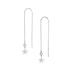 Olsen Silver Tiny Star Threader Earrings