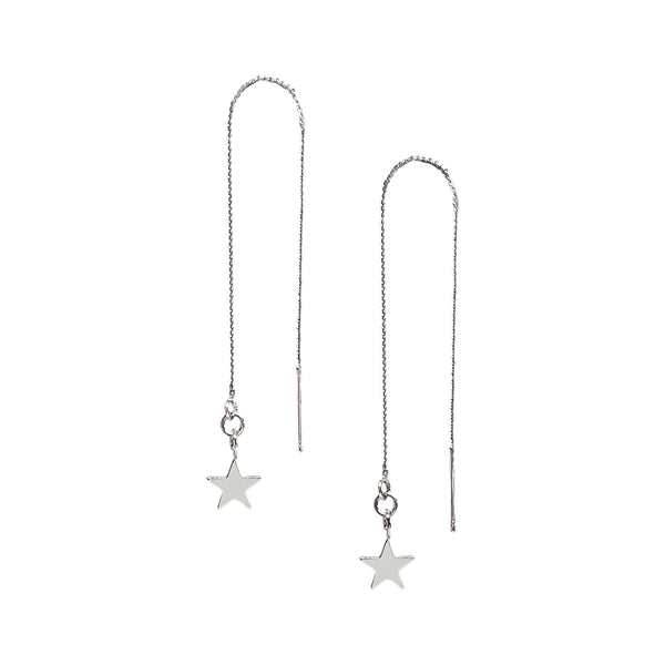 Silver Star Earrings | Olsen Silver Tiny Star Threader Earrings