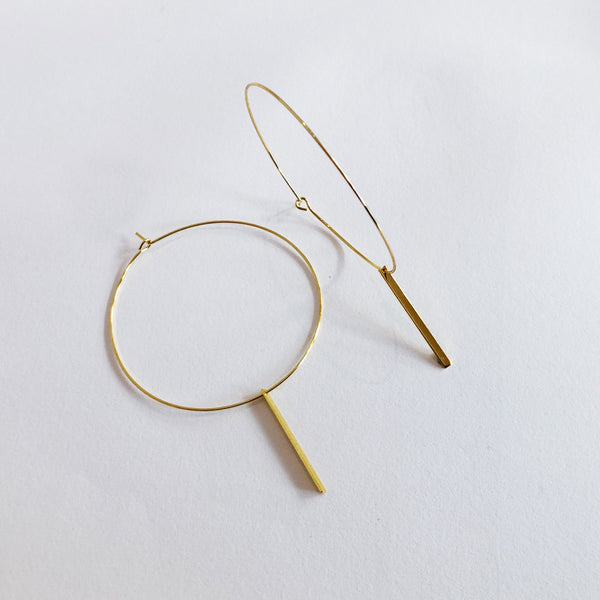 Veda Ultra-Fine Gold Hoop Earrings - Large