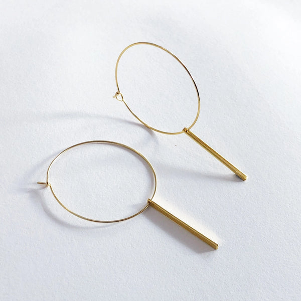 Hoop Earrings | 24K Gold Veda Hoop Earrings | Medium