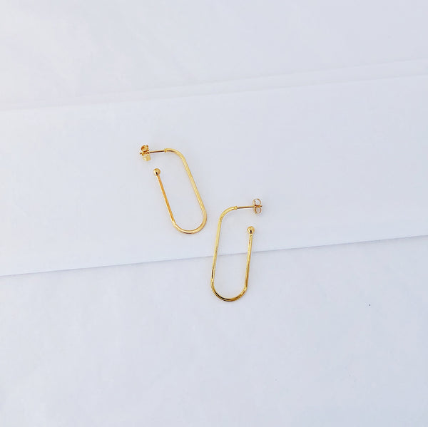 Gold Hoop Earrings | Dana 18K Gold Earrings