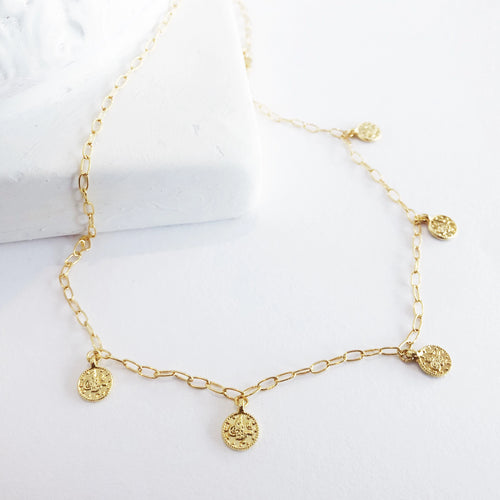 Fortuna Coin Link Chain Necklace