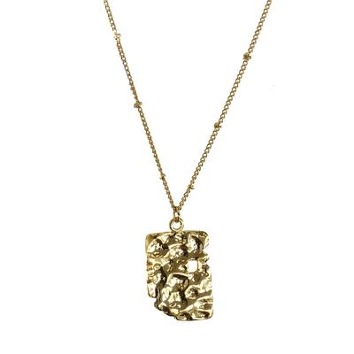 Gold Chain Necklace | 18K Gold Relic Medallion Necklace