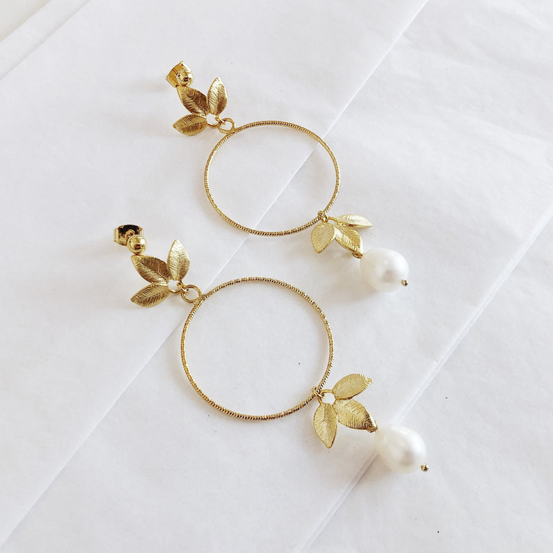 Gold Flower Earrings | 18K Gold Alessandra Earrings