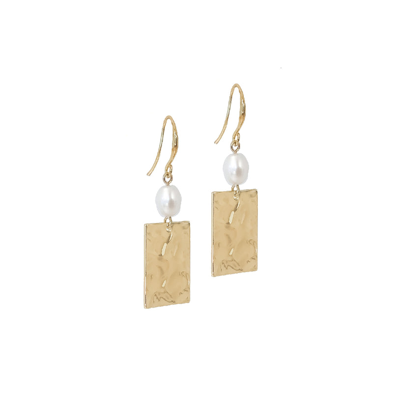 Allia Gold Pearl Earrings