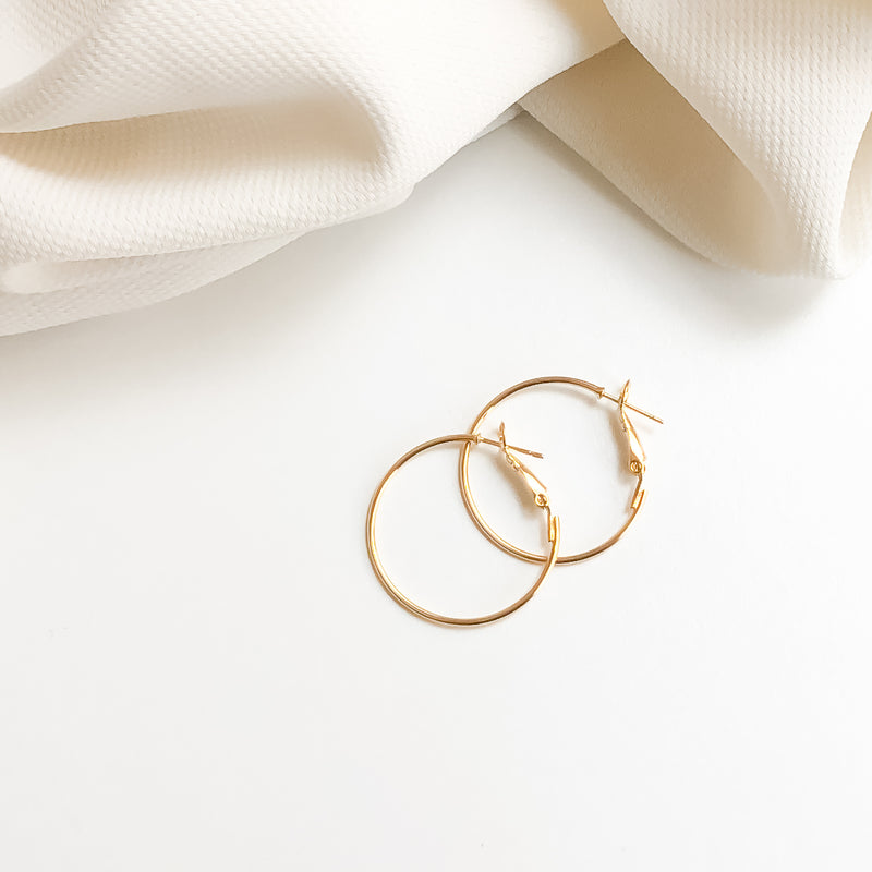 Gold Hoop Earrings | Austin 18K Gold Earrings