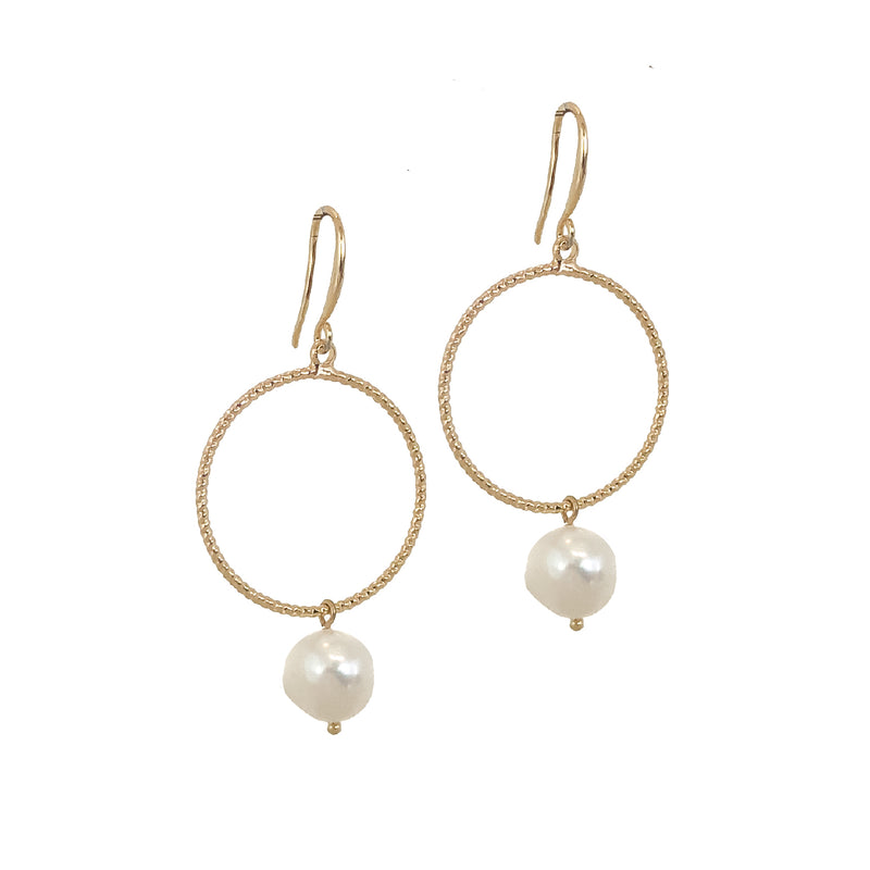Gold Pearl Earrings | 18K Gold Avery Earrings