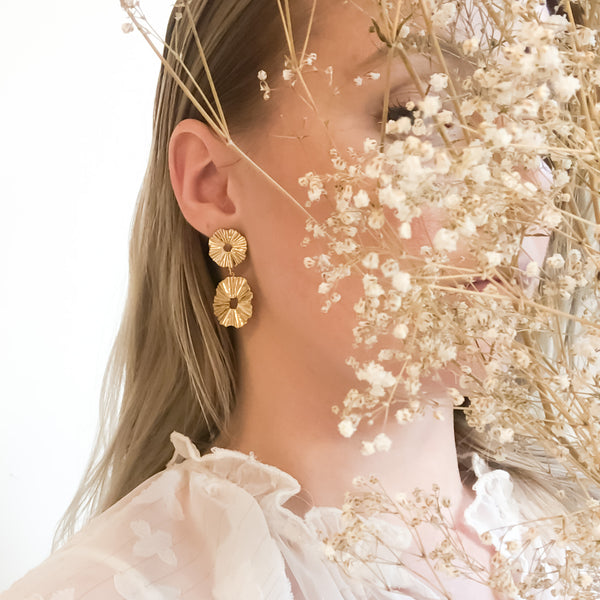 Gold Statement Earrings | Cremorne 18k Gold Earrings