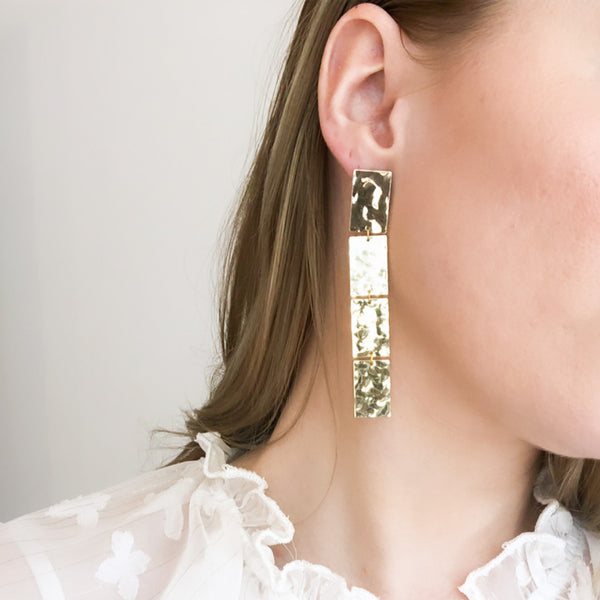 Statement Earrings | 18K Gold Dakota Earrings