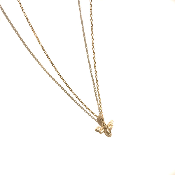 Gold Chain Necklace | 18K Gold Dynasty Tiny Bee Necklace