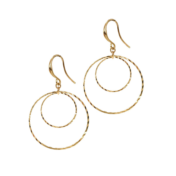 Hook Earrings | 18K Gold Lithgow Earrings