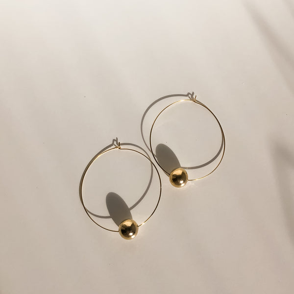 Gold Hoops | 24K Gold Fools Gold Hoop Earrings