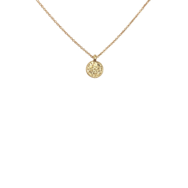Gold Necklace | 24K Gold Fortuna Uno Necklace-- Fine Chain