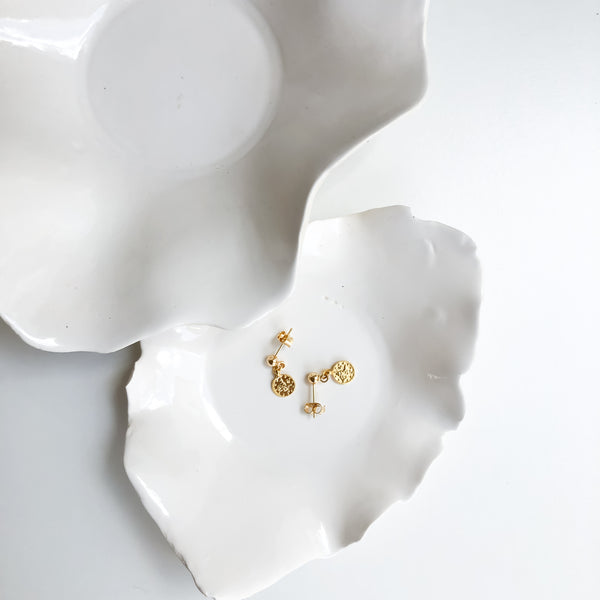 Fortuna Uno Coin Stud Earrings
