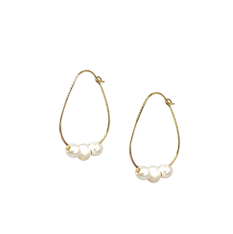 Lily Pearl Hoop Earrings