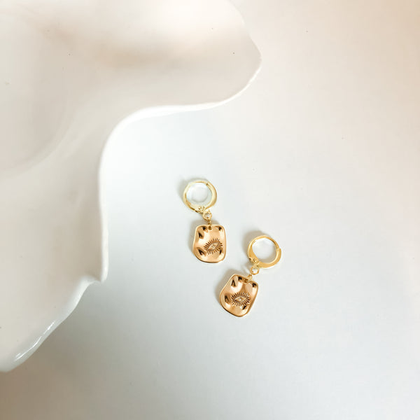 Videre Eye Charm Mini Hoop Earrings