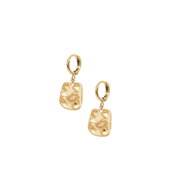Gold Hoops | 24K Gold Videre Mini Hoop Earrings