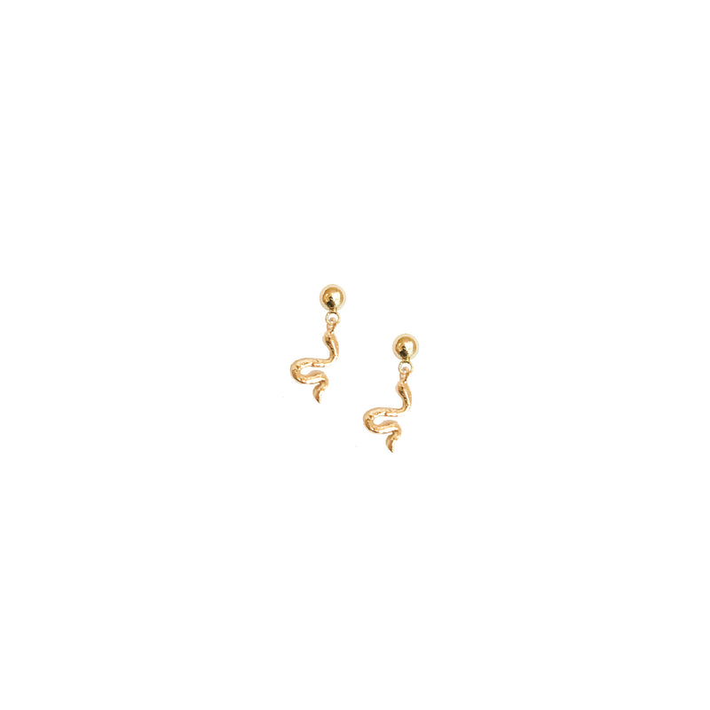 Snake Studs | Nirah Tiny 18k Gold Snake Stud Earrings