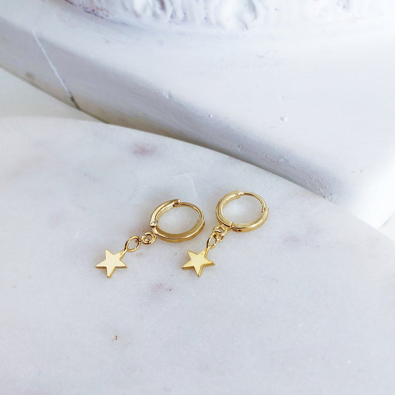 Olsen Gold Tiny Star Hoops