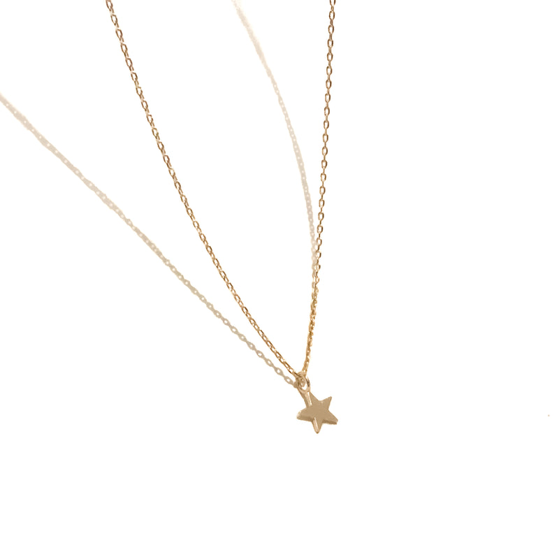 Gold Chain Necklace | 18K Gold Olsen Tiny Star Necklace