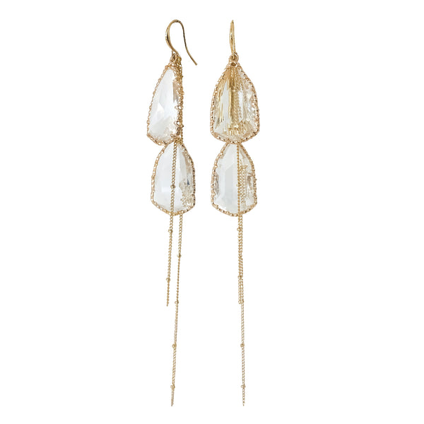 Statement Earrings | 18K Gold and Cubic Zirconia Turner Statement Earrings