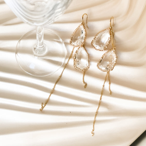 Turner Crystal Drop Earrings