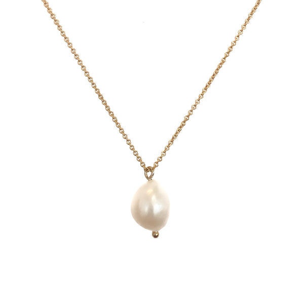 Gold Necklace | 18K Gold and Pearl Vesta Necklace