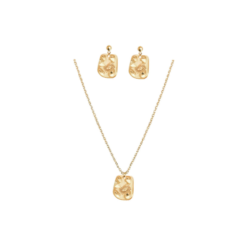 Gold Jewellery Set | 24K Gold Videre Earrings & Necklace