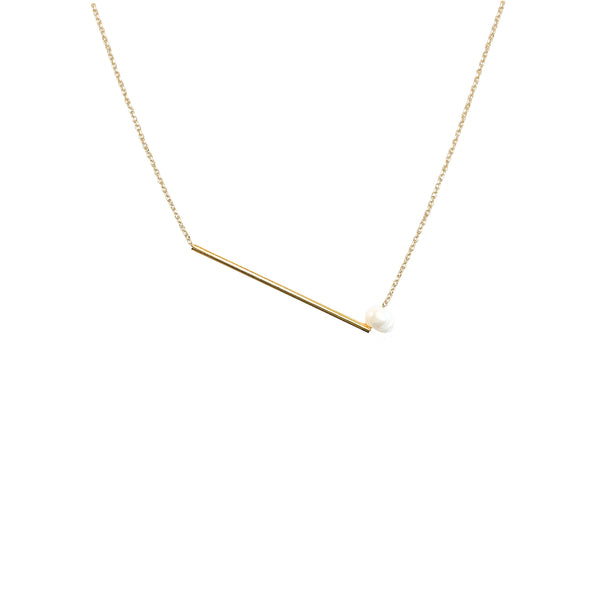 Gold Chain Necklace | 18k Gold and Pearl Yves Necklace