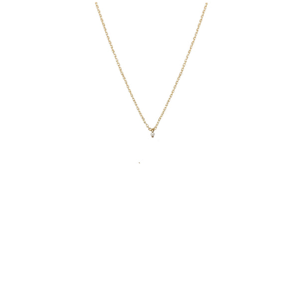 Gold Chain Necklace | 18K Gold and Pearl Zephyr Necklace