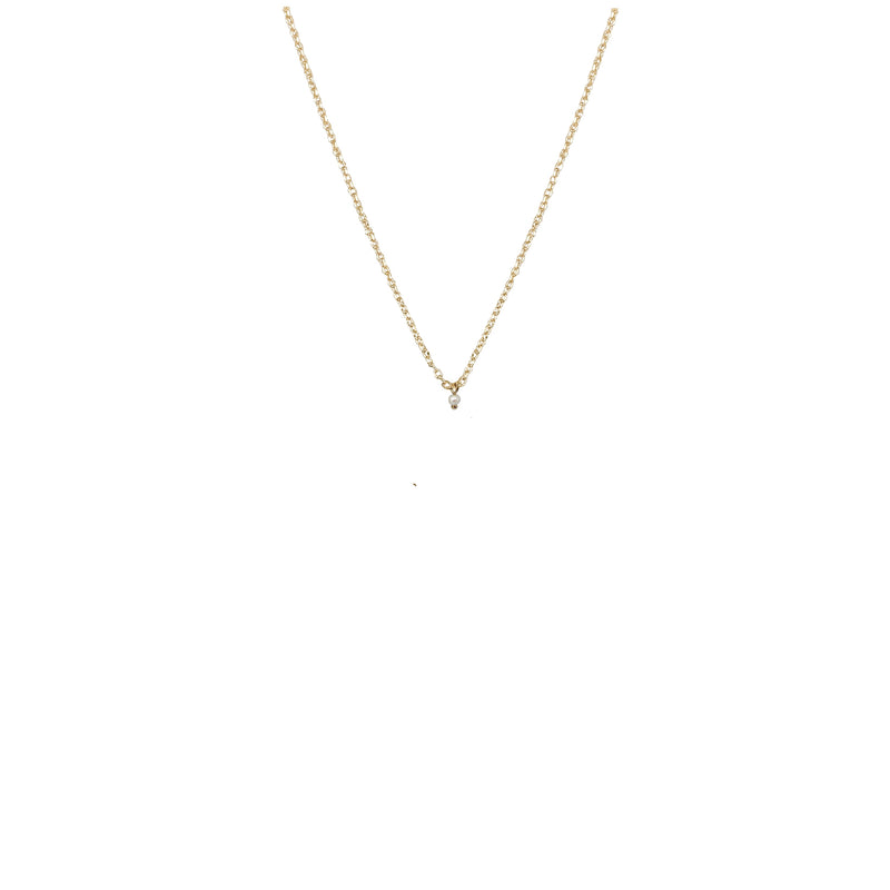 Zephyr Tiny Petite Pearl Necklace