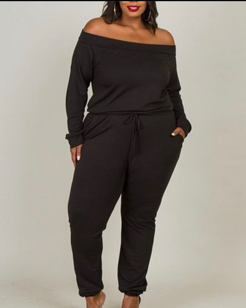 Curvy Off the Shoulder Jumper