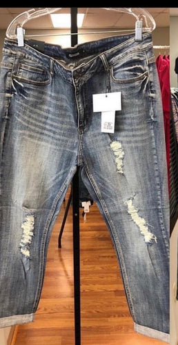 Distressed Curvy Girl Jeans
