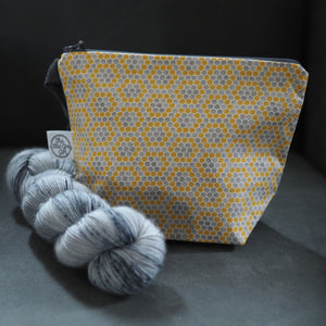Grellow Honeycomb - Small Project Bag - The Little Grey Girl