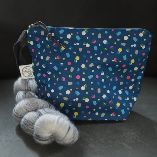 Blue Confetti - Small Project Bag - The Little Grey Girl