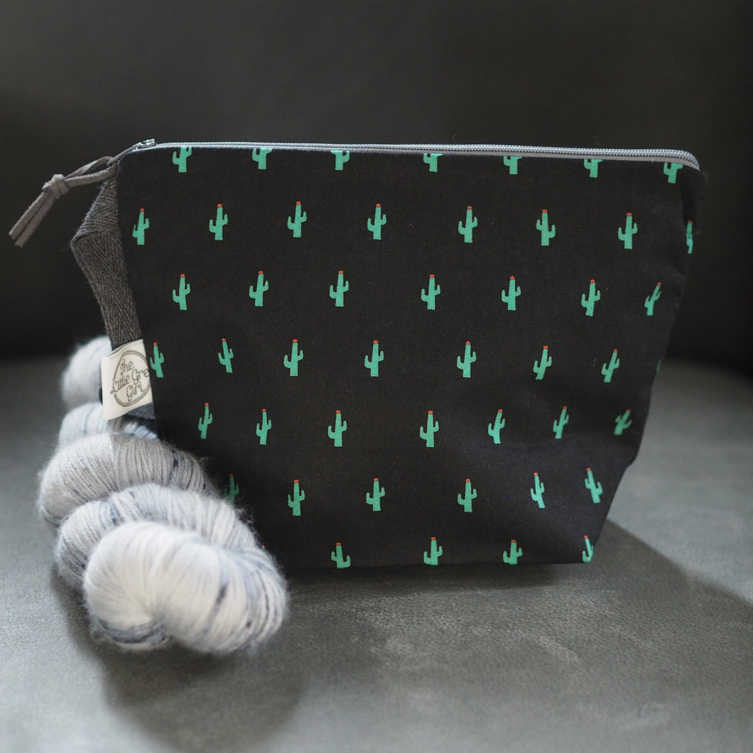 Black Cactus - Small Project Bag
