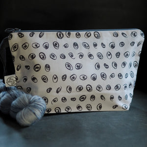 Grey Swirls - Medium Project Bag - The Little Grey Girl
