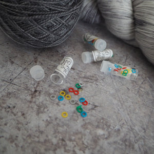 Rainbow Rubber Stitch Markers - The Little Grey Girl