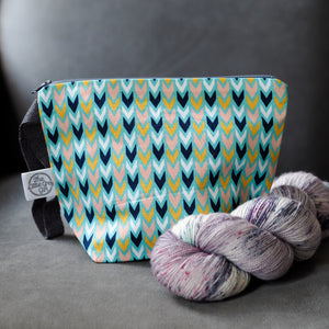 Geometric Arrows - Small Project Bag - The Little Grey Girl