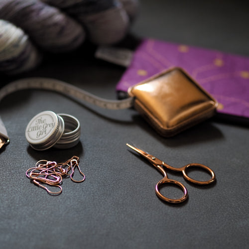 Rose Gold Metallic Removable stitch markers - The Little Grey Girl