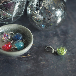 Christmas Glass Bauble Removeable Stitch Markers - The Little Grey Girl