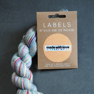 "Kylie and the Machine ""MADE WITH LOVE AND SWEAR WORDS"" Woven Labels 8 Pack - The Little Grey Girl"