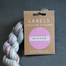 "Load image into Gallery viewer, Kylie and the Machine ""ONE OF A KIND"" Woven Labels 8 Pack - The Little Grey Girl"